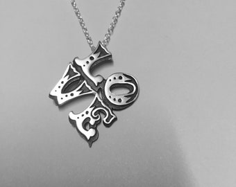 LOVE pendant handmade in Sterling silver including  optional sterling silver chain