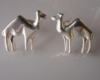 Camel Cufflinks handmade Sterling Silver