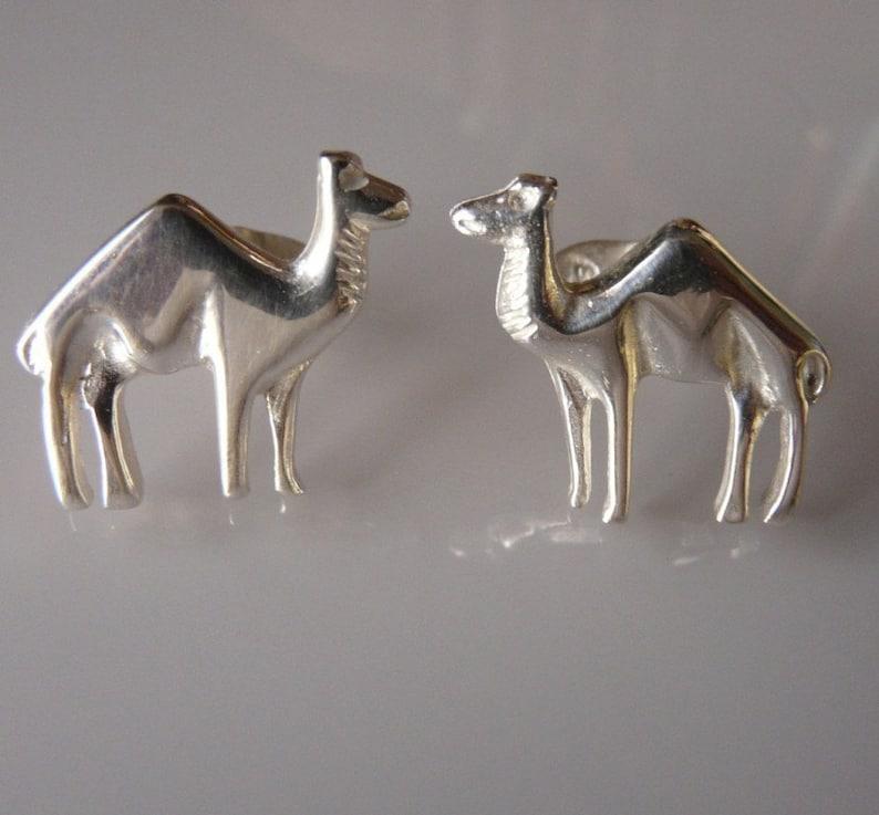 Sterling Silver Camel Cufflinks image 0