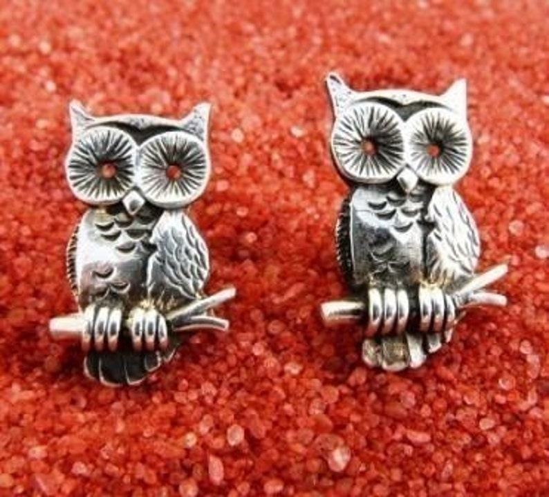 Sterling Silver Owl Cufflinks image 0