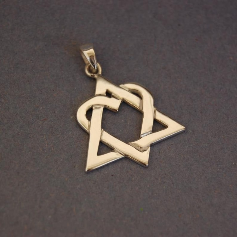 Sterling silver Adoption symbol pendant image 0