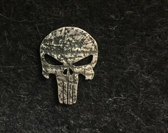 Punisher handmade Sterling silver pin / tiepin/ cufflinks