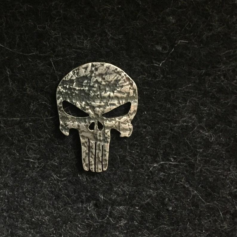 Sterling silver Punisher pin/tiepin image 0