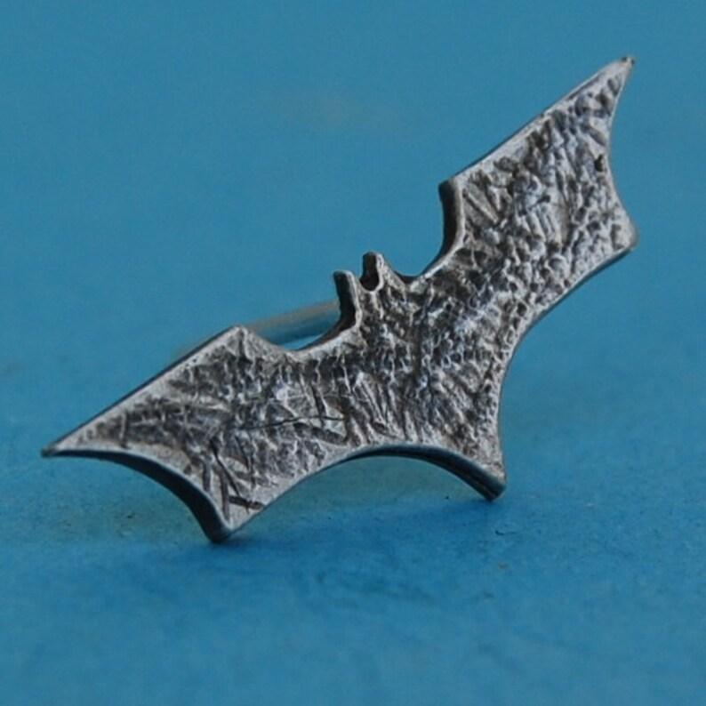 Sterling silver batman pin/tiepin image 0