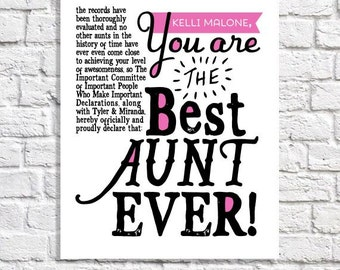 Aunt Quote Art Etsy