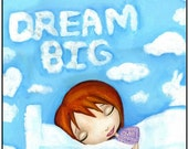 This Is A Print Of A Redhead Dreaming Big