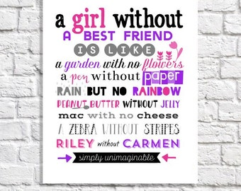 Long Distance Friendship Quote Print Best Friend Long Distance Etsy