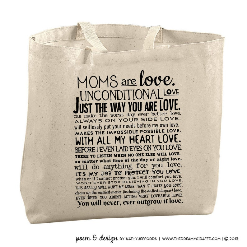 Mom Tote Bag Mothers Day Gift Under 25 Canvas Tote Bag image 0