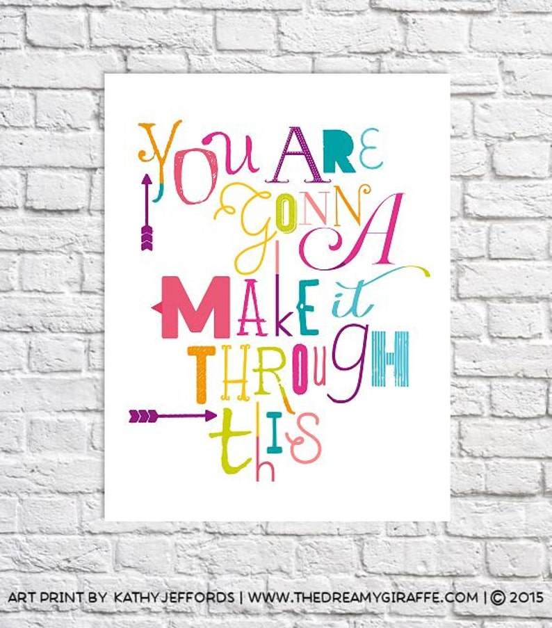 Motivational Wall Decor Get Well Care Package Idea Recovery image 0