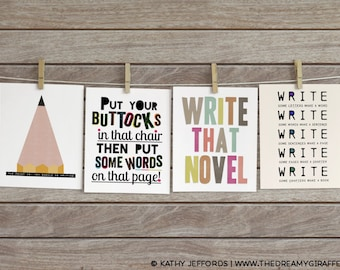 4 Writing Printables for 5 Dollars, Writing Inspiration Art, Writing Quotes, Writing Motivation
