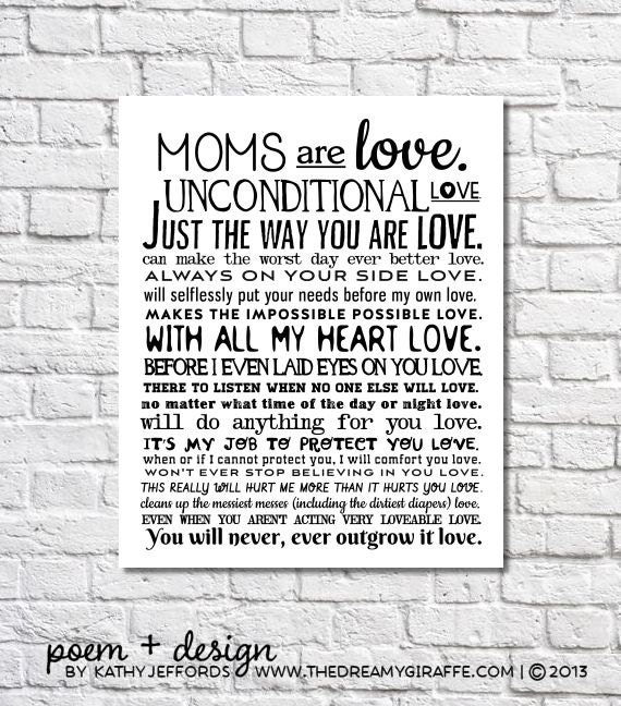 unconditional love of a mother poem