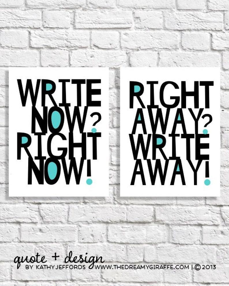 Write Away Write Now Art Print Set Creative Writing Student image 0