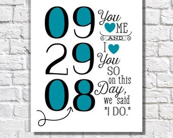 Special Date Wall Art 1st Anniversary Present For Her Personalized Couple Gift Wedding Print Love Quote Bedroom Decor Ideas Custom Date Sign