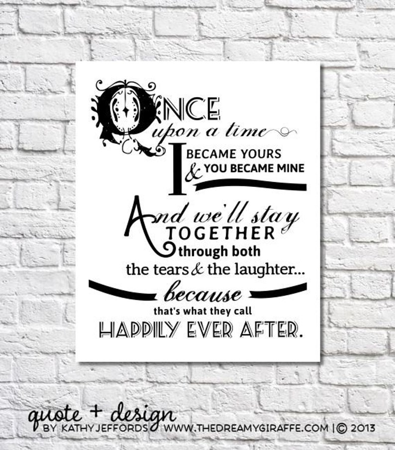 Once Upon A Time I Became Yours Art Print Once Upon A Time image 0