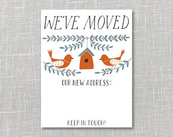 Moving Announcement Printable Instant Download PDF