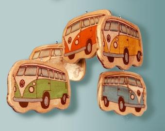 VENICE VOLKSWAGON - Baby Mobile - Wooden Volkswagon Baby Mobile for Retro Vintage Beach Room or Nursery Decor