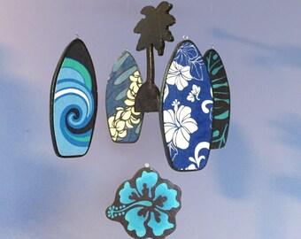 Baby Mobile | Surfboard Mobile | Surf Mobile | Surfboard Nursery | Beach Decor | Beach Nursery | Baby Boy | Palm Tree | Hawaiian Mobile