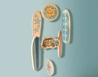 BABY CRIB MOBILE - Wooden Surfboard Nursery Mobile - Beautiful Mobile for a Nautical, Beach or Surf Themed Baby Room