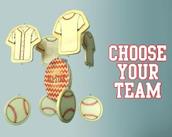 Baby Mobile | Baseball Mobile | Baseball Nursery | Baseball Baby | Yankees Mobile | Cardinals Mobile | Angels Mobile | Red Sox Mobile