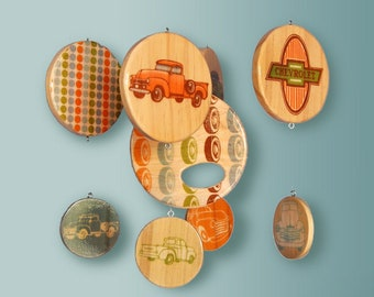 Baby Mobile Vintage Chevy Trucks  - Wooden Hanging Mobile - Chevrolet Pickup Truck