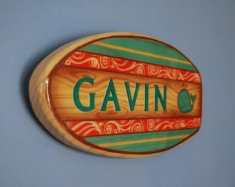 Surfboard Art   Surfboard Wall Decor   Personalized Sign   Teacher Gift   Baby Shower Gift