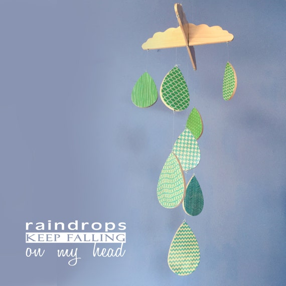 Baby Mobile Raindrops Keep Falling On My Head Wooden Baby
