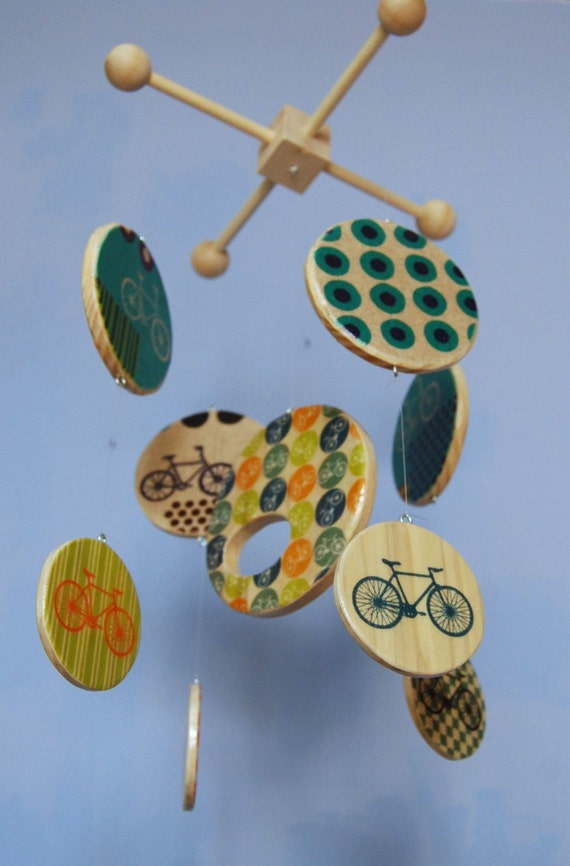 Baby Mobile Bicycle Mobile Wood Mobiles Bicycle Nursery Etsy