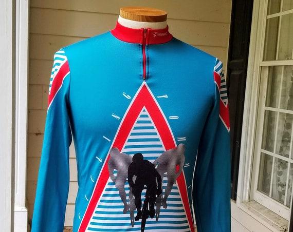 Vintage Tommaso Biking Cycling Bicycling Long Sleeve Jersey