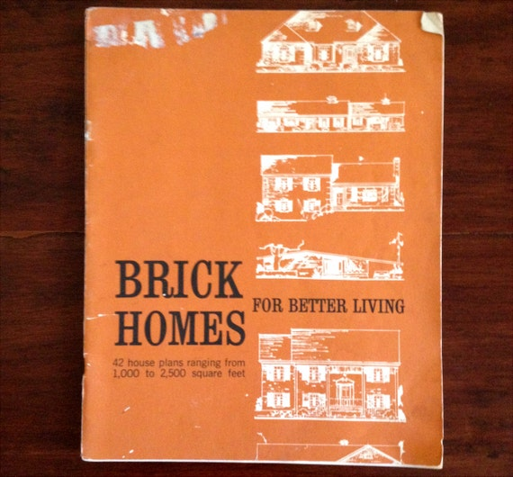 Brick Homes - 42 Mid Century House Designs Catalog Blueprints Architecture