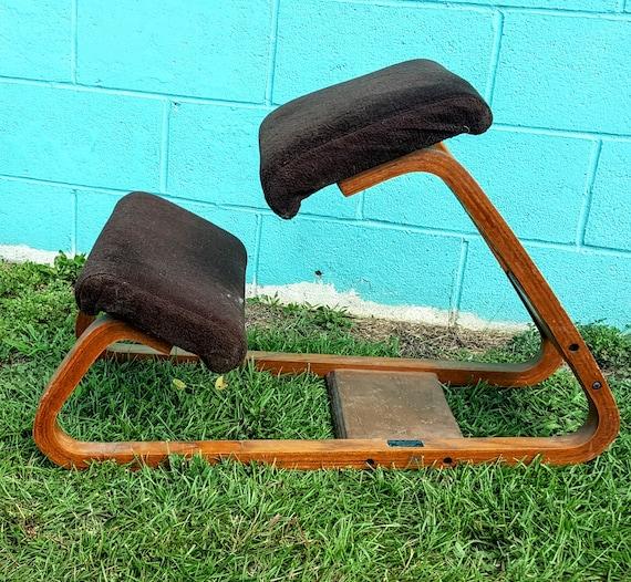 Retro Mid Century Ergonomic Posture Kneeling Stool Bench Chair