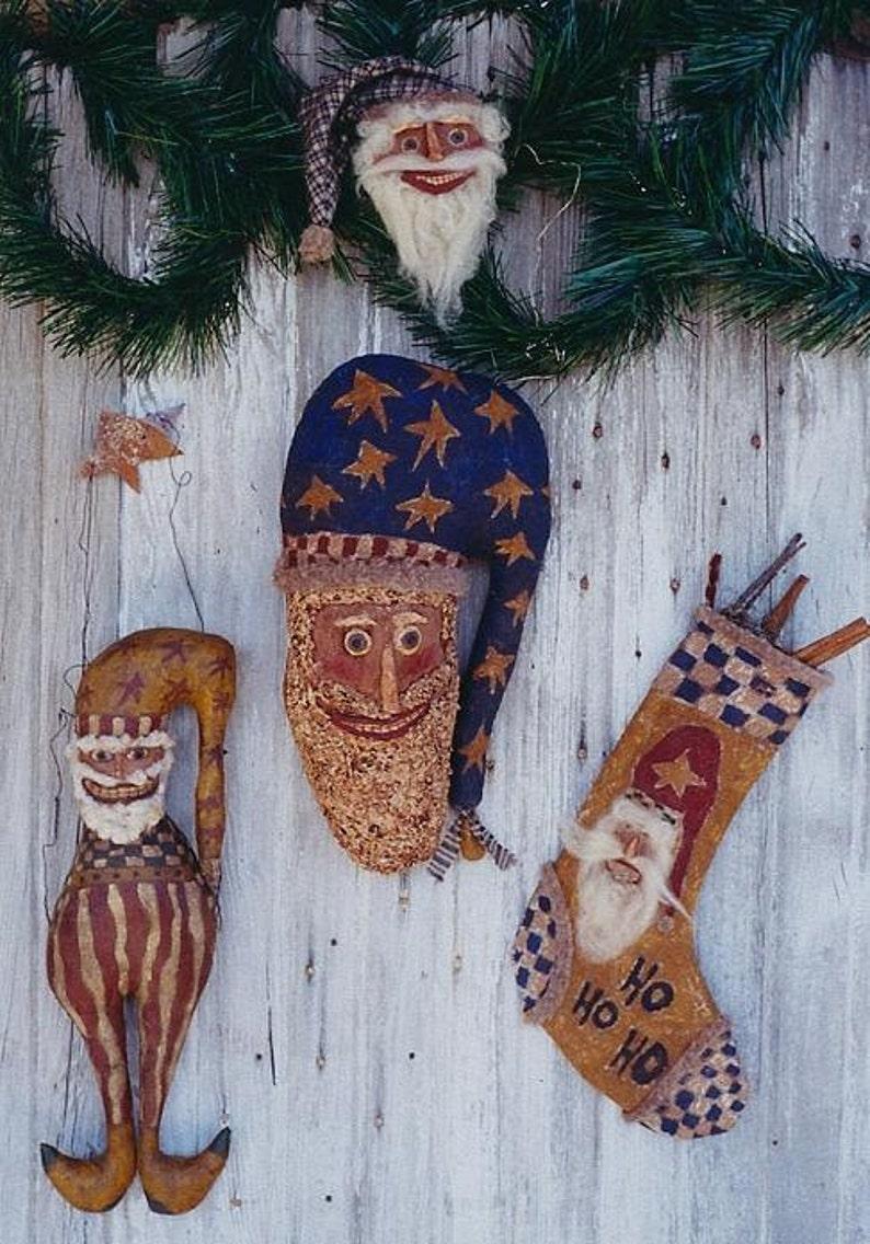 Santa Claus Doll Primitive Pattern EPattern PDF Christmas image 0