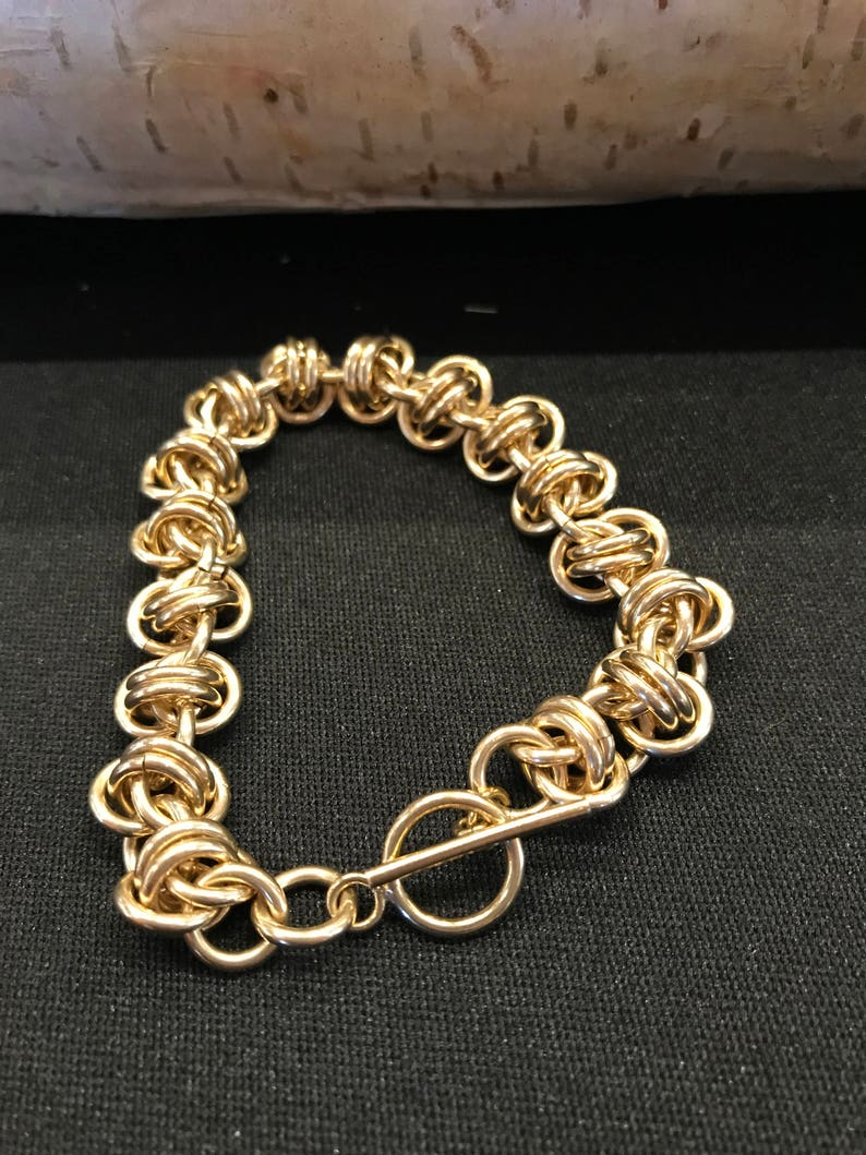 Chain Maille 14K Gold-Fill Orbital Weave image 0