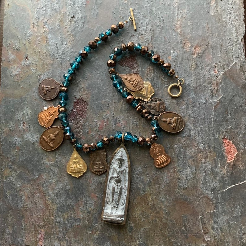 Oodles of Buddhas Tibetan Temple Medals & Crystal image 0