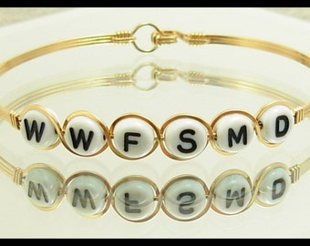 What Would Flying Spaghetti Monster Do - WWFSMD Bracelet. Hand crafted in 14k Gold Filled Wire.