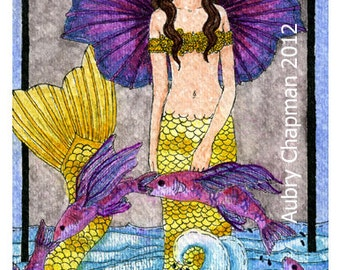 Mermaid Flying Fish Fairy 5x7