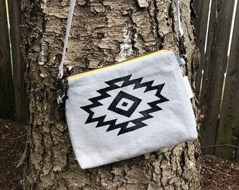 Crossbody bag / block printed / southwest