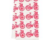 organic tea towel bike all over pattern