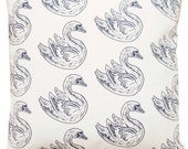 16x16 swan pillow