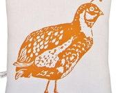 block print quail accent squillow pillow