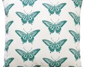 16x16 swallowtail butterfly pillow