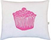 block print cupcake squillow accent pillow
