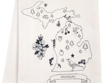 SALE best Michigan organic tea towel