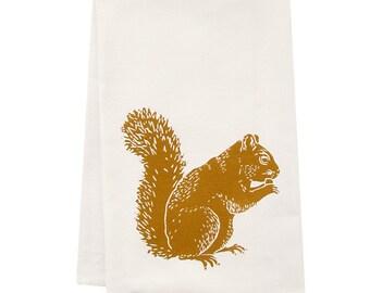 Sale Ssquirrel tea towel ORGANIC