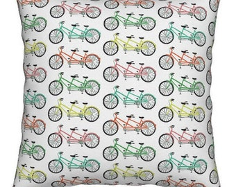 16x16 multi color tandem bike pillow