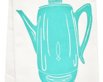 coffee percolator organic tea towel