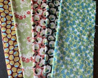 Westminster Designer Fabric - Cotton Bolls, Chestnuts, Floral
