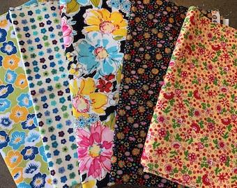 Designer Fabric - Flowers, Garden, Alexander Henry, Michael Miller, Robert Kaufman