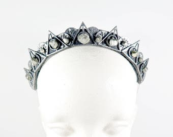 Illuminati Pyrite Crystal Crown - Queen of the Ruins Series - by Loschy Designs
