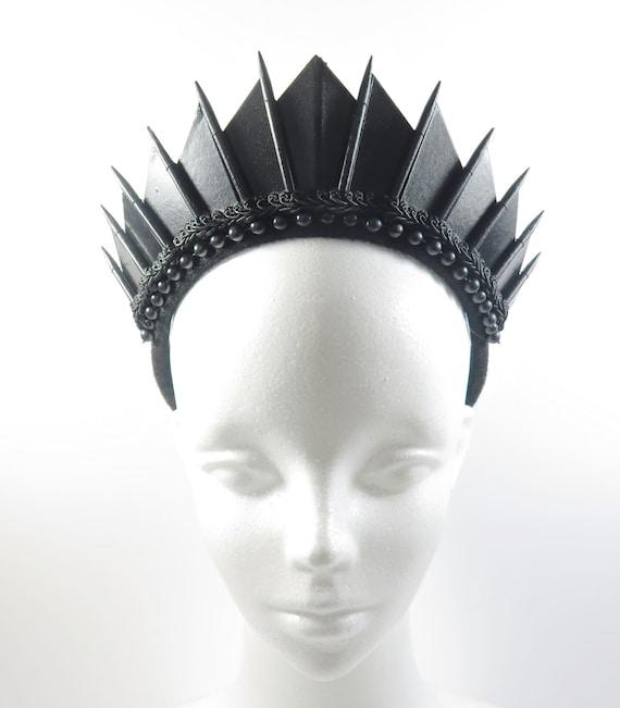 by Loschy Designs Rose Quartz Black Blade Crystal Crown