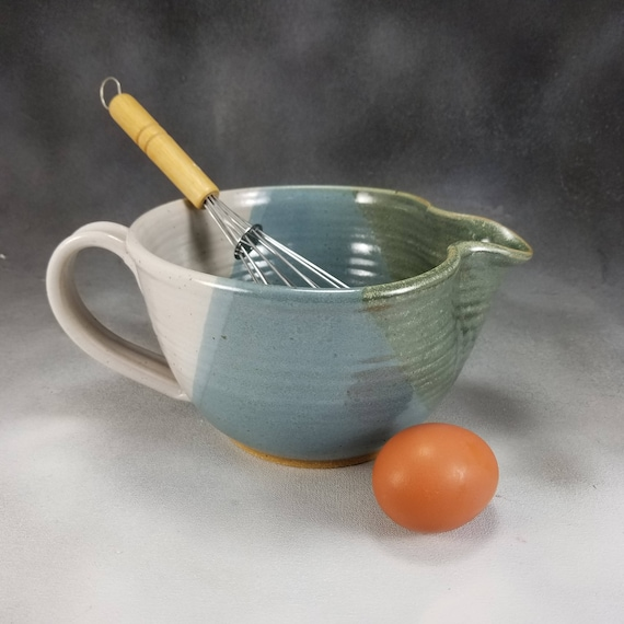 Bol en faïence pâte bleu vert et blanc bol en pâte céramique ...